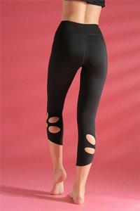 Transparente Pantalon de yoga Shark femmes taille haute Brochage creux Yoga Thai Pantalon Sport Femme Pantalon en cours de formation Fitness Gym Leggings