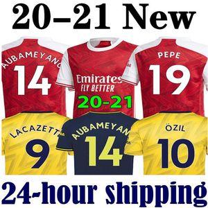 maillots de football Arsenal soccer jersey football shirt 19 20 PEPE AUBAMEYANG Lacazette 2019 2020 Xhaka uniformes chemise OZil kit de football de troisième maillot de foot de la