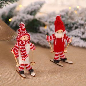 Little Doll Christmas Decorations Colgante Originality Woollen Yarn Universal Cartoon Exquisite Skiing Colgantes Popular Nuevo llega 4 48mg J1