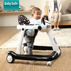 Babysafe Baby Walker avec roues Anti-retournement Musique Sécurité Baby Walker Voiture Enfant Assistant de marche Apprendre à marcher Fauteuil roulant