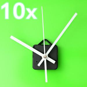10 шт кварцевые часы механизм движения длинный шпиндель белые руки ремонт DIY комплект Тихий 55 x 55 x 16 мм