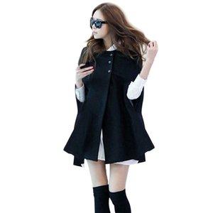 Autumn Woman Ladies Batwing Oversized Casual Winter Coat Jacket Loose Cloak Cape Outwear Black Big Outwear Coat