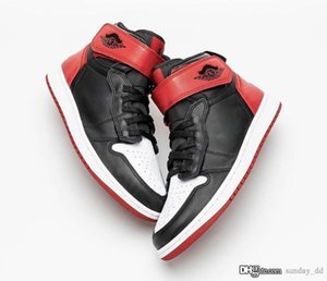 Newest Best Authentic Air 1 High FlyEase Gym Red Black Basketball Shoes Gym Red-White-Black For Men Sports Sneakers CQ3835-001 With Box