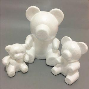 35 ملليمتر النمذجة الدب رغوة البوليستيرين الستايروفوم الأبيض الدب رغوة هدايا القلب الكرة الحلي الحرف زهرة هدايا عيد الميلاد الحزب