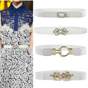 fascione bianco cinghia larga elastica delle donne fibbia reali del tutto-fiammifero cinture veste la decorazione cinghia Stretch corsetti signora partito
