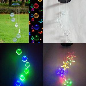 Led Güneş Enerjisi Windbell Lambaları Renk Değişikliği Kabuk Bahçe Dekor Rüzgar Çanları Işık Yüksek Kalite Ile Sıcak Satış 24ja J1