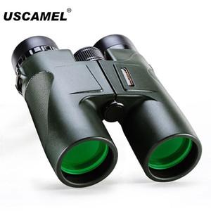 USCAMEL HD 10x42 BAK4 العليا التكبير التكبير الصيد تلسكوب زاوية واسعة المهنية مناظير الأسود الجيش الأخضر