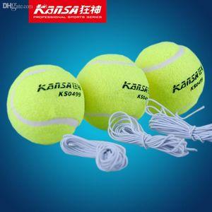 Lastik Halat Yüksek kaliteli Tenis Aksesuarları ile Toptan-kansa 3PCS tenis topu Spor Tenis Eğitim Toplar Eğitmen Egzersiz Topu