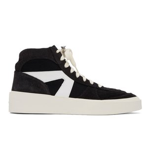 Fear Of God Man Shoes Leather Genuine Black Mens Leather Winter Boots High Top Mens Sneakers Casual 11#23 20d50