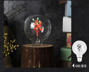 Bombilla LED Edison E14 E27 3 W C35 C35L G80 llama fuego iluminación Vintage parpadeo efecto tungsteno novela vela punta lámpara naranja rojo