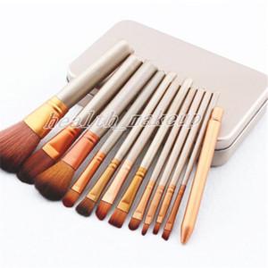 Make-up Pinsel NK3 Gesicht und Augen Bürsten Kit 12 Stück professionellen Make-up-Pinsel-Set Kit mit Eisen-Box Kosmetik Pinsel Lidschatten Pinsel