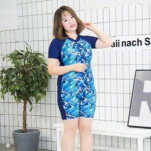 Women's flat-angle zipper one-piece swimsuit Sports outdoor professional skills enlarged size swimsuit women