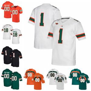 Miami Hurricanes Formalar Brad Kaaya Jersey Ed Reed Ray Lewis Sean Taylor Andre Johnson 2020 Erkek Koleji Futbol Formalar Özel Dikişli