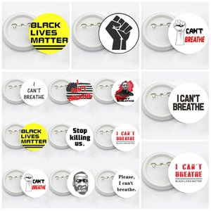 George Floyd Trump USA Flag Pin Badge Party Favor 14styles I CAN'T BREATHE Brooches Black Lives Matter Parade Brooches T3I5829