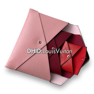 High Quality Designer Wallet Women Wallets Purse M62034 With 3 Together Ladies Luxury Wallet Pink Leather Bag Fashion Lady Bolso Handbag