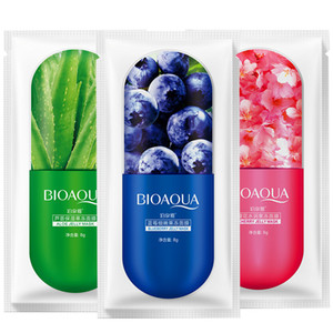 Masque feuille gelée faciale profonde moisturing Hydratante Masque Prévenir Blueberry Sakula feuille masque de sommeil