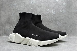 Cheap 2019 Top Quality Unisex Sports Shoes Flat Fashion Luxury Socks Boots Woman New Slip-on Elastic Cloth Speed Trainer Man Sports Shoes