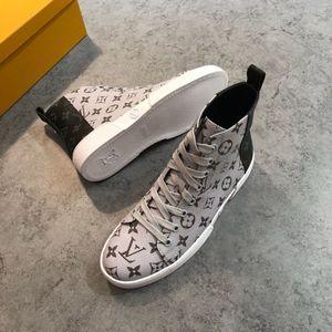 2019 Süperstar erkek Tasarımcı Eğitmeni Ayak Bileği Çizmeler Moda Lüks Klasik Baskı Rahat Ayakkabılar Tasarımcı Çizmeler Boyutu 38-45