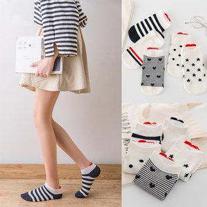 10Pairs New Arrival Women Cotton Socks Pink Cute Short Love Pattern Soft Breathable stock Casual Red Heart Gril Ankle Socks 35-40