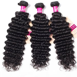 9A Mink Brazillian Body Wave Straight Loose Wave Kinky Curly Deep Wave Brazilian Peruvian Maalaysian Indian Virgin Human Hair Weave Bundles