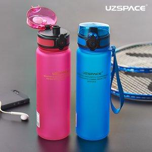 Esporte Garrafa De Água Tritan Material Plástico Drinkware Shaker Proteína Camping Caminhada Minha Garrafa De Bebida Portátil 500Ml 1000Ml com Corda