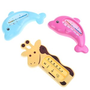 Dolphin Temperatura infante Ducha Toy habitaciones baño de agua termómetro de baño infantil ducha Producto lindo del bebé Baño de dibujos animados