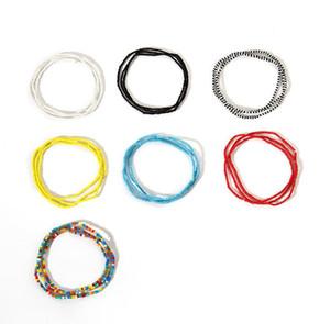 perles de couleur de la chaîne du corps de couleur assortie à la main simple en gros une seule couche de perles sauvages frappé les femmes élastiques de la chaîne de la taille de Free shippin