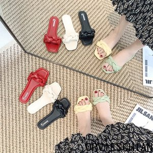 venta de los zapatos de las mujeres directas de la fábrica de verano 2020 sandalias del dedo del pie nueva boca de los pescados tejido zapatillas desgaste planos de las mujeres