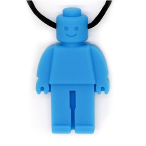 Robot Sensory Chew Necklace for Kids Silicone Oral Sensory Chewy Teether Pendant Chewelry for Teething Autism Biting Chewing