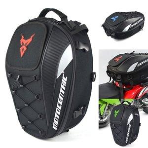 Impermeabile coda del motociclo Sacchetto durevole del sedile posteriore del motociclo Sacchetto ad alta capacità Backpack Tote WHShopping