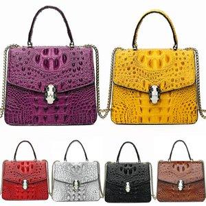 2020 Luxury Crocodile Shoulder Bag Women Bags Designer New Rivet Clutch Bag Sheepskin Famous Brands Chains Bags Bolsa Feminina Autumn#549