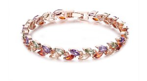 Cavalo Eye Zircon austríaco bracelete de várias cores Bracelet Rose Gold handwear