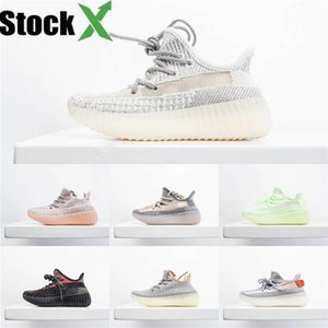 2020 Enfants Bébé Kid Clay V2 Chaussures de course Kanye West Blakc statique 3M Reflective Zebra Beluga 2.0 Garçon Fille Sport Chaussures de sport Tim Formateurs 28B6 # 841