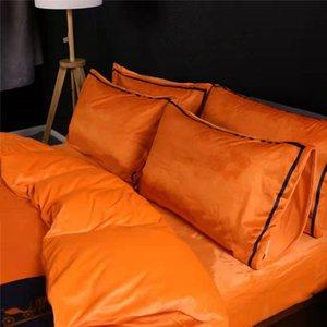 2020 Luxo Crystal TV da cama de veludo define 4 pcs definidos transporte gratuito suave lençol colcha fronha cobertura confortável.