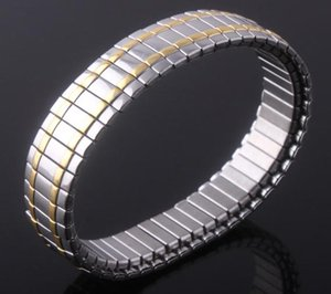 Hot sale new European and American gold-plated stretch stainless steel bracelets