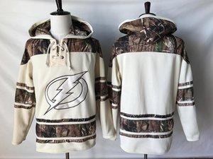 Calidad superior! 2019 Nueva Tampa Bay Lightning Old Time Hockey Jerseys Camo Custom Hoodie Pullover Sudaderas Sport Chaqueta de invierno