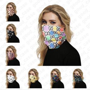 Luxo Máscaras metade do rosto Outdoor Bicicleta Ciclismo Bandanas Scarf Designer Headband Chefe Sports Lenços lavável protectora protetora D41403 Máscara