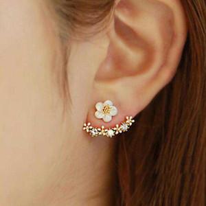 Donne coreane Orecchini anti allergia oro argento oro rosa fiore margherita orecchio nai orecchino per le signore regalo gioielli di moda