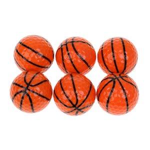 6 peças Sport Balls Padrão novidade Golf Balls Golf Acessório