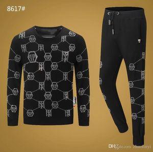 Марка мужская спортивная балахон и фуфайки черный осень / зима Jogger спортивный костюм мужской размер спортивный костюм м-3XL