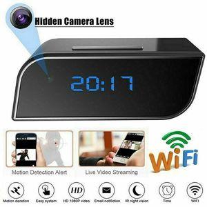 WIFI Digital Alarm Clocks With HD 1080P Wifi Camera Motion Security IR Cam Camera