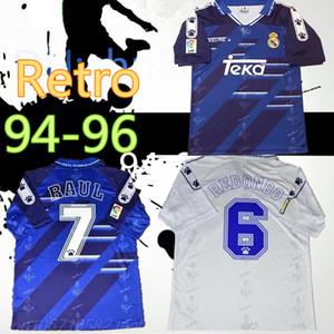 Retro 94 95 96 Jerseys de fútbol retro Real Madrid Raul Zamorano Redondo Camisas de fútbol de la vendimia 1994 1995 1996 CLÁSICA CAMISETA DE FÚTBOL