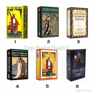 Smith Waite 78 fogli / set Shadowscapes Tarot Deck Carte da gioco con scatola colorata Versione inglese 6 stili