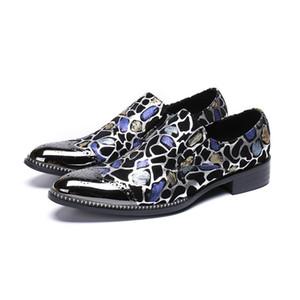 Pattini del vestito degli uomini dello smoking del vestito di moda scarpe da ballo Paty Male Plus Size sera del partito di Oxford scarpe per gli uomini