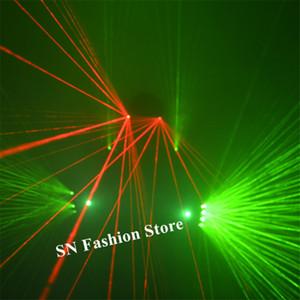 P11 Bar dj veste luvas de laser verde vermelho vigas óculos de laser rave festa trajes de luz homens do robô projetor laser recarregável ktv festa de vidro