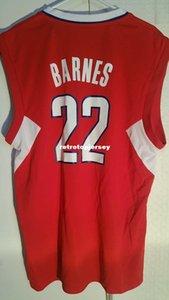 NCAA Barato Retro Jersey # 22 Matt Barnes Vermelho Mens Costurado Vintage sem mangas vest jerseys