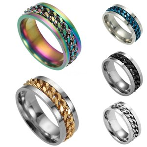 Valentine'S Day Gift- Mixed Order Dropshipping Stainless Steel Rings Mens Ring Chain And Tyre Design Rings Jewelries Factory Supplier 016 #81