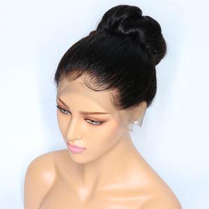 360 Lace Frontal Perücken Gerade 360 Perücken 360 volle Spitze-Front-Menschenhaar-Perücken für schwarze Frauen Pre Zupforchester Baby-Haar NYC Haar