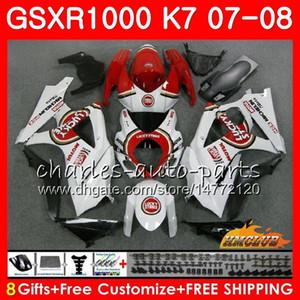 Кузов для Suzuki GSXR-1000 Lucky Red Hot GSXR1000 2007 2008 07 08 Bodys 12HC.13 GSX R1000 GSX-R1000 K7 GSXR 1000 07 08 обтекатель ABS