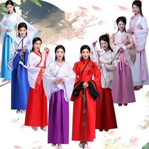 2020 Hanfu Folk платье для женщин Древнекитайская костюм Тан костюм Dynasty Fancy Vestidos Vintage Party Dance Festival Эпикировка